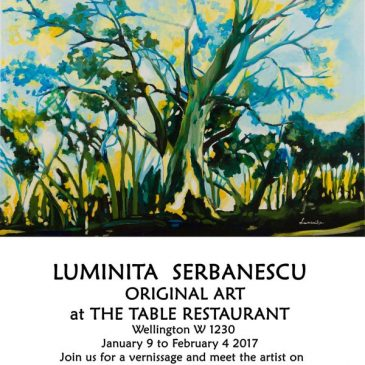 """A Tumultuous Affair"" solo show by Luminita Serbanescu at The Table"