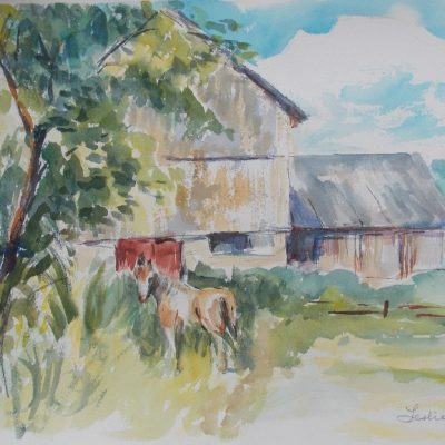 """Barn near Martindale, Que"" by Leslie Blackwell"