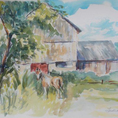 Barn near Martindale, Que