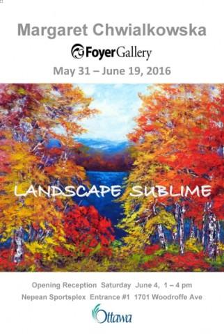 Landscape Sublime solo show by Margaret Chwialkowska
