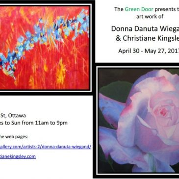 Donna Wiegand and Christiane Kingsley's show at the Green Door