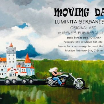 Moving Day solo show by Luminita Serbanescu at Irene's Pub