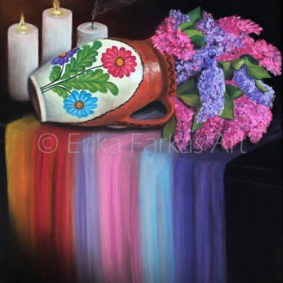 """Springtime Tranquility"", pastels on pastelmat, 16"" x 20"""