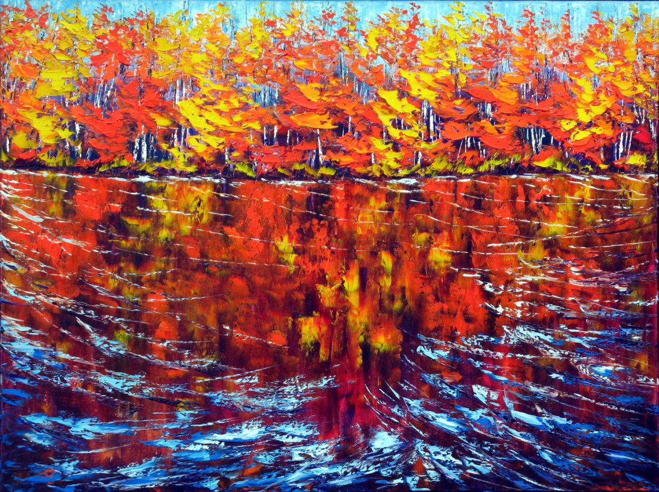 Margaret Chwialkowska-Persimmon Reflection, Ottawa River.