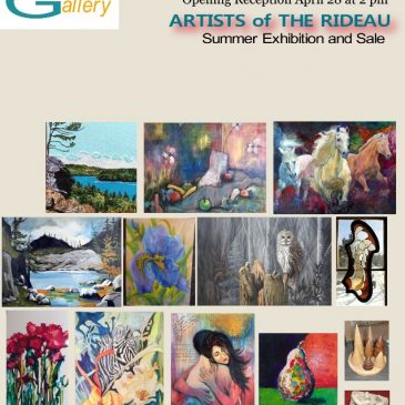 "Erika Farkas in ""Artists of the Rideau"" show in Elgin, ON"