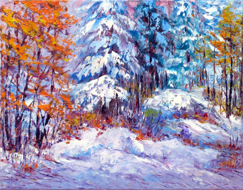 First Snow, Gtineau, 14x18inch