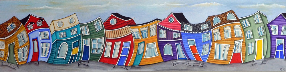 Heather_Lovat-Fraser_Jelly Bean Row_2019_Acrylic_72x18x1.5