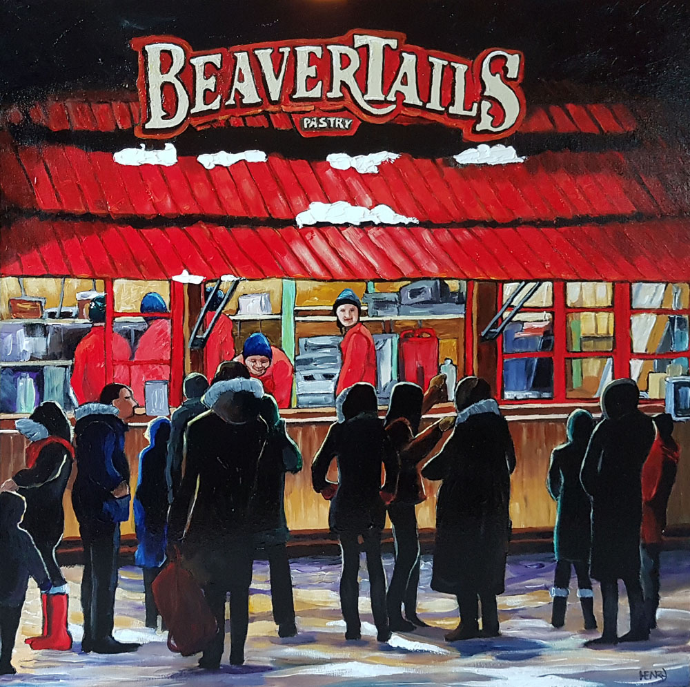 Lauren_Henry_Cold Night for Beavertails_2017_Acrylic_20x20x1.5