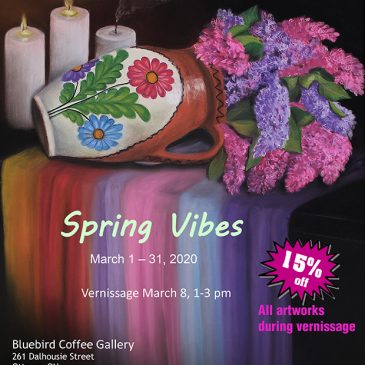 "Erika Farkas in ""Spring Vibes"" at Bluebird Coffee Gallery"