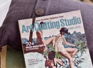 Foyer Gallery Artist Sharon Collins in Art Quilting Magazine