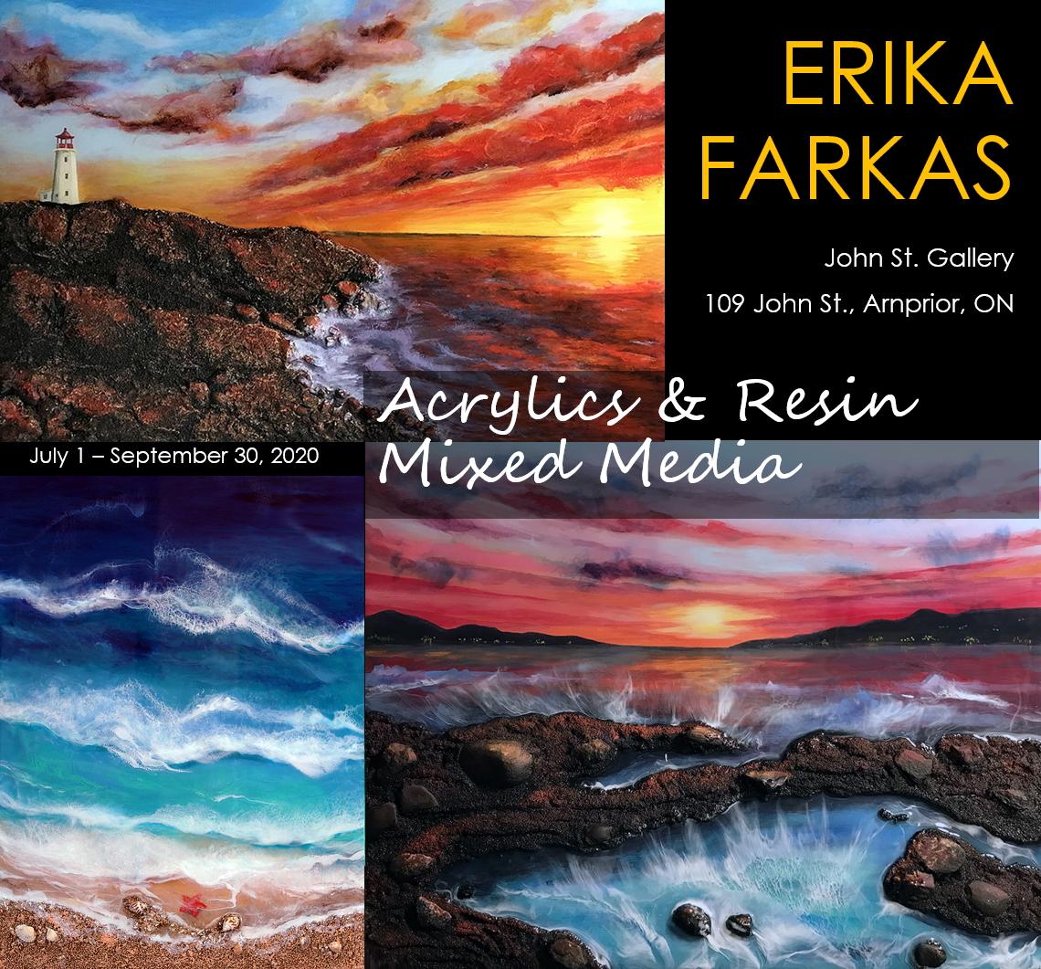 Foyer Gallery Artist Erika Farkas at John St. Gallery